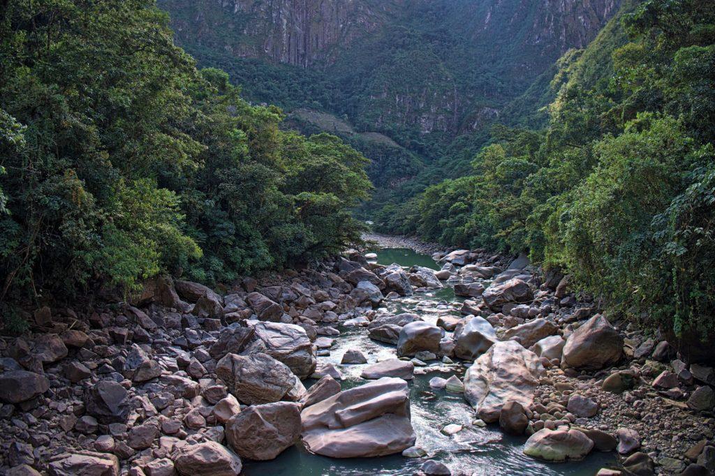 El río Urubamba de Machu Picchu